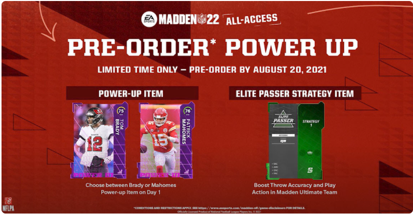 Strategy Items Boost Player's Attributes in Madden 22