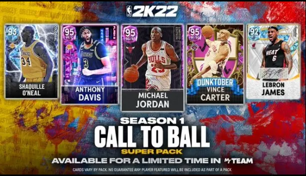 NBA 2K22- Season 1 Call To Ball Super Pack Is Available in MYTEAM